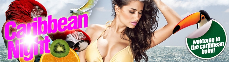 Promotion banner for Caribbean Night