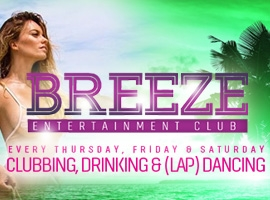 Flyer for Breeze Entertainment Club