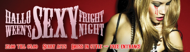 Promotion banner for Halloween Sexy Frightnight