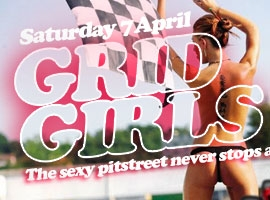 Flyer for Grid Girls