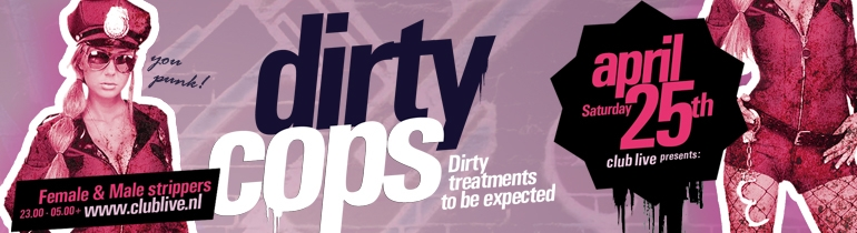 Promotion banner for Dirty Cops