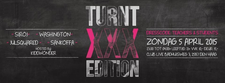 Promotion banner for Turnt XXX edition