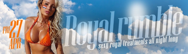 Promotion banner for Royal Rumble