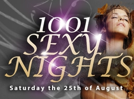 Flyer for 1001 Sexy Nights